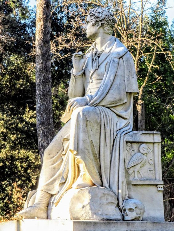Statue of Lord Byron, Villa Borghese, Rome