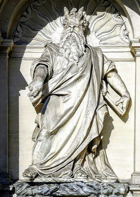 Statue of Moses by Prospero Antichi, Fountain of Moses, Rome