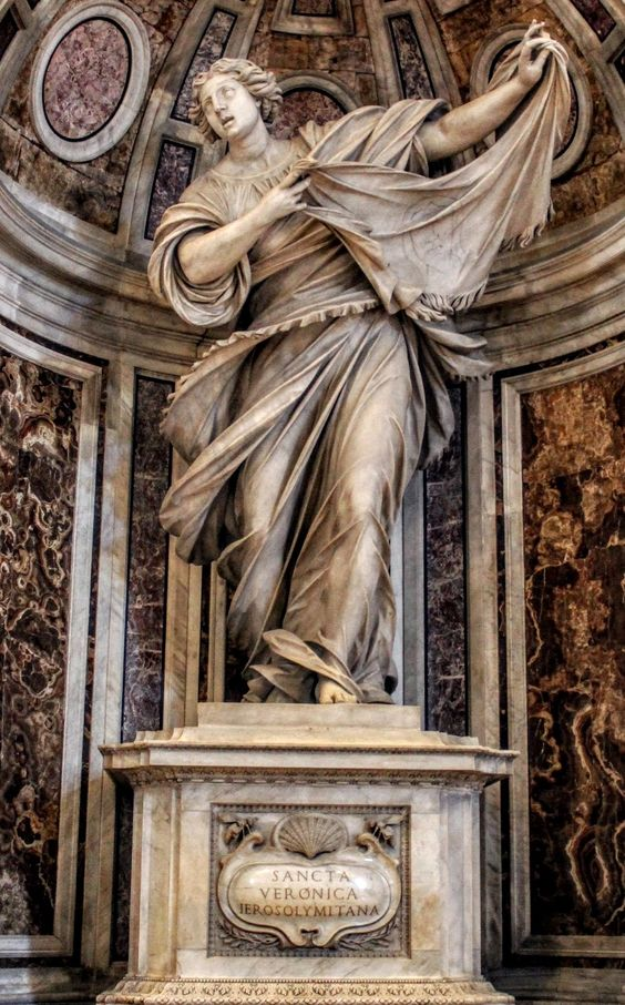 Statue of St Veronica by Francesco Mochi, St Peter's Basilica, Rome