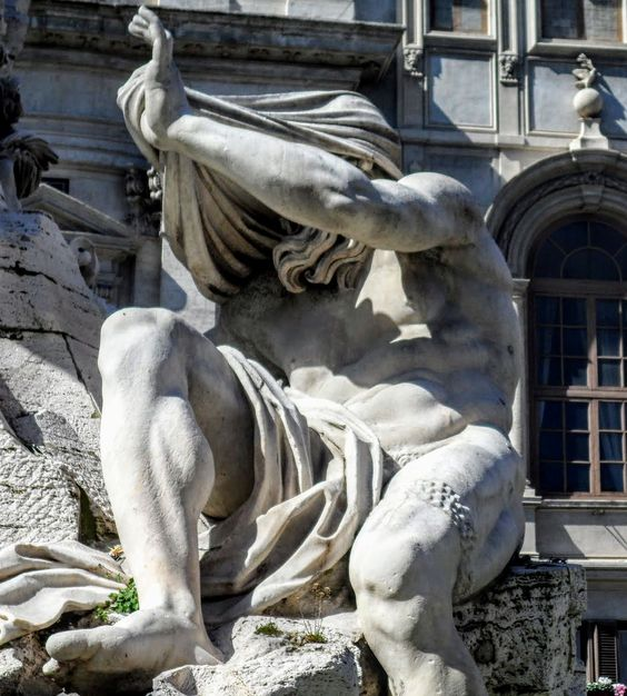 Statue of the River Nile, Fountain of the Four Rivers, Piazza Navona, Rome