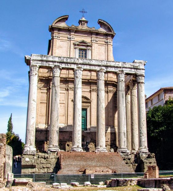 Temple of Antoninus Pius and Faustina, the Forum, Rome