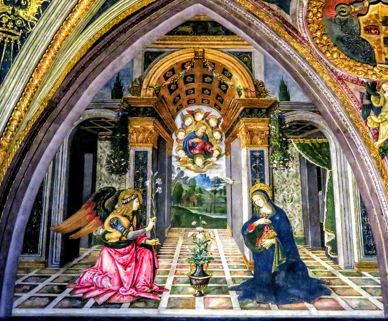 The Annunciation, fresco by Pinturicchio, Borgia Apartment, Vatican Museums, Rome