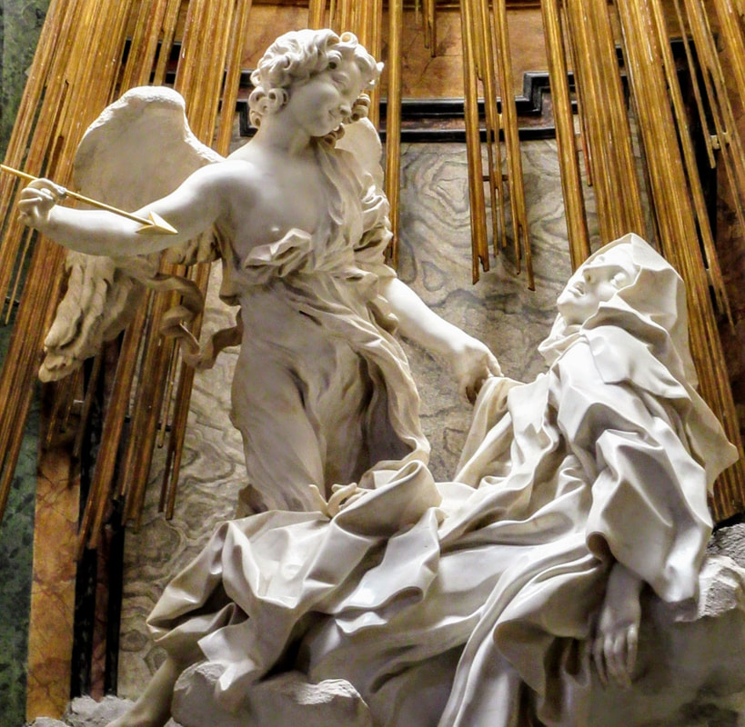 The Ecstasy of St Teresa by Gian Lorenzo Bernini, Santa Maria ...