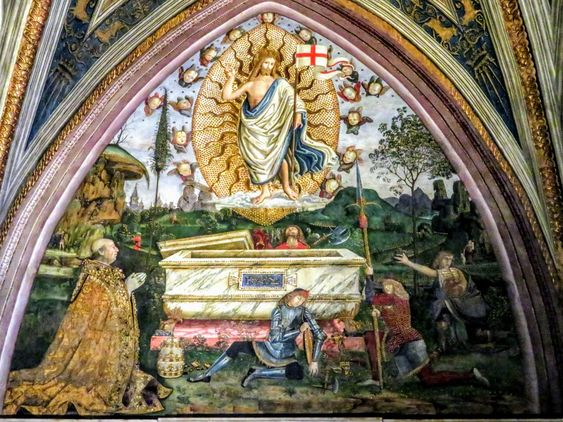 The Resurrection by Pinturicchio, Borgia Apartment, Vatican Museums, Rome