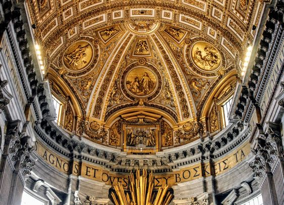 Vault of the apse, St Peter's Basilica, Rome